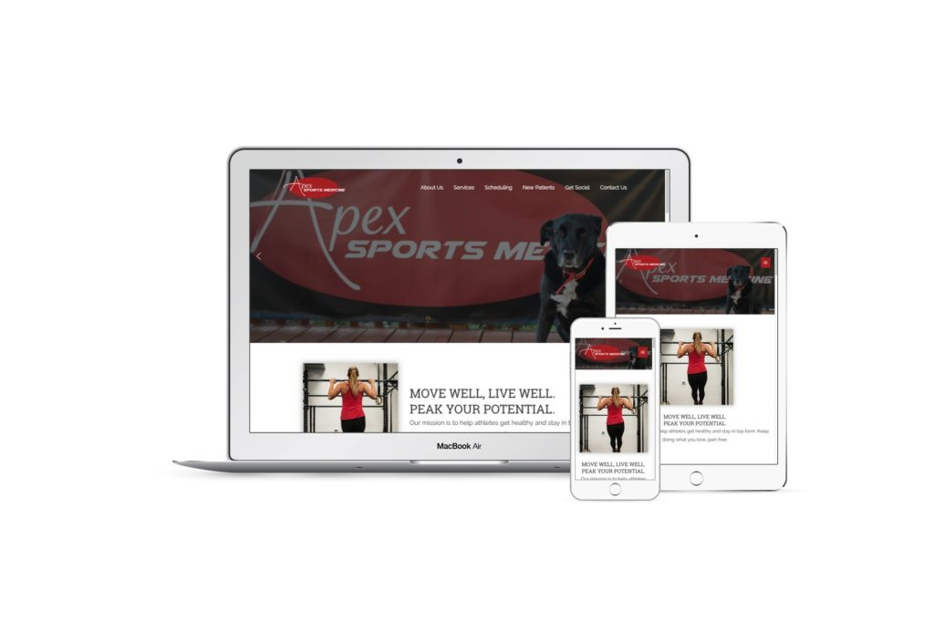 Apex Sports Medicine mockup